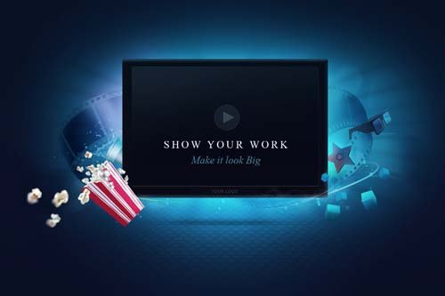 CreativeMarket Video Screen Template