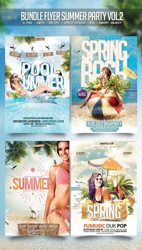 GraphicRiver Bundle Flyer Summer Party Vol.2