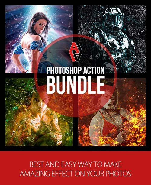 GraphicRiver Photoshop Action Bundle