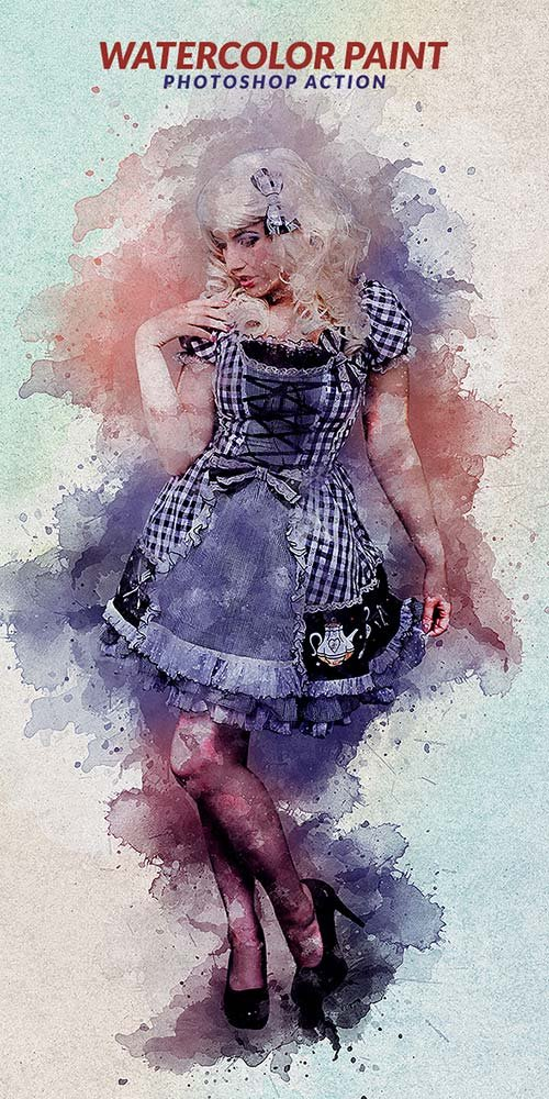 GraphicRiver Watercolor Paint Photoshop Action