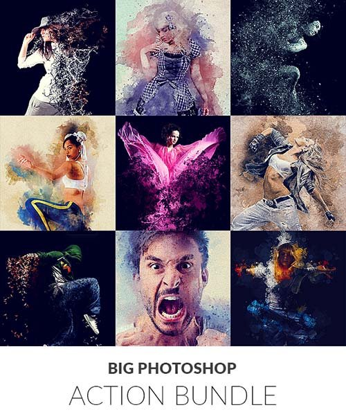 GraphicRiver Big Photoshop Action Bundle