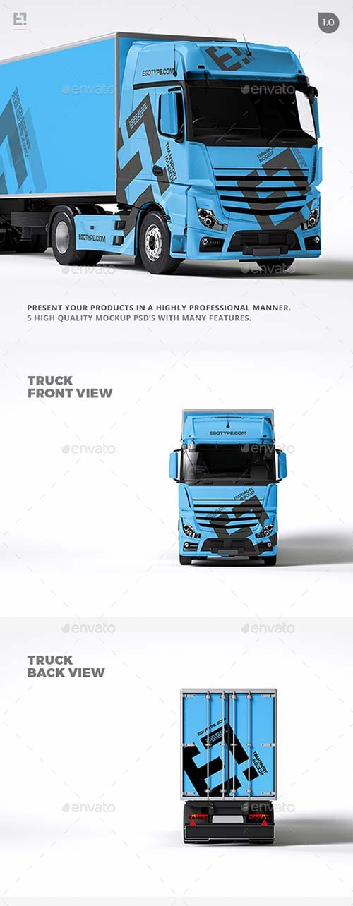 GraphicRiver Truck Mock Up 1709769