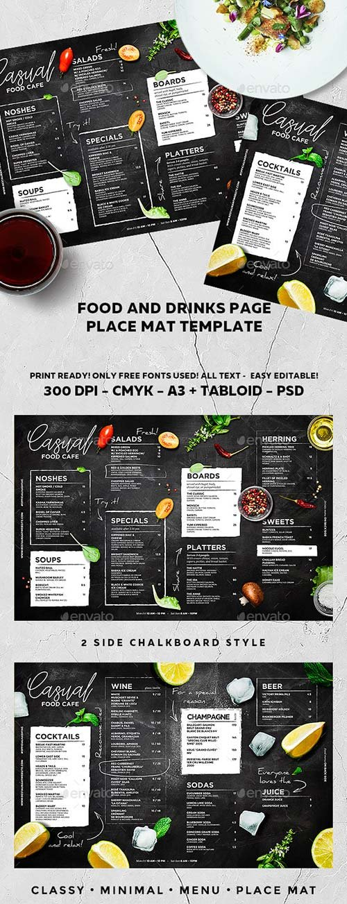 GraphicRiver Chalkboard Cafe Menu