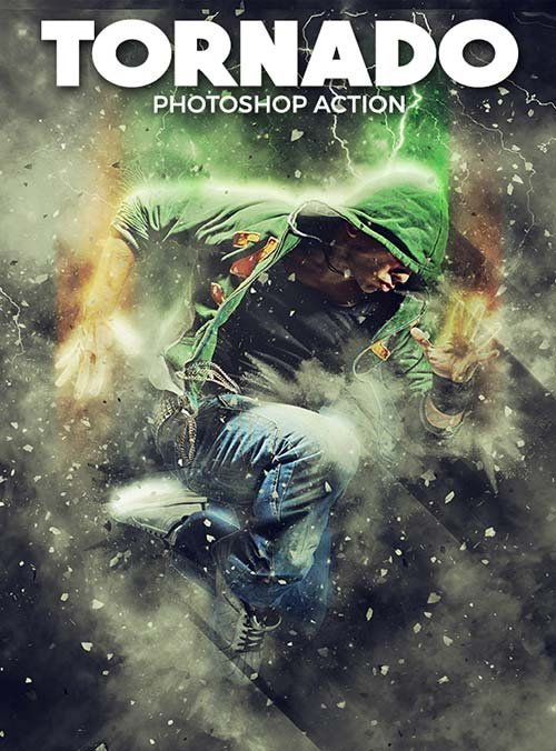 GraphicRiver Tornado Photoshop Action