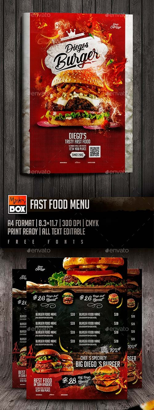 GraphicRiver Fast Food Menu