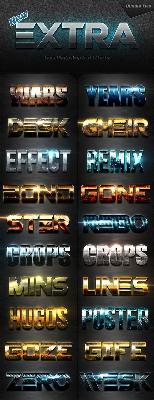 GraphicRiver New Extra Light Text Effects Bundle Two