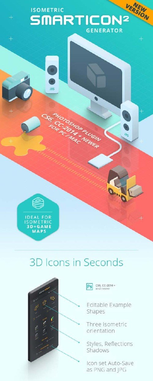 GraphicRiver SmartIcon Generator 2 - Isometric 3D Icons