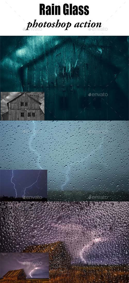 GraphicRiver Rain Effect Phototshop Action
