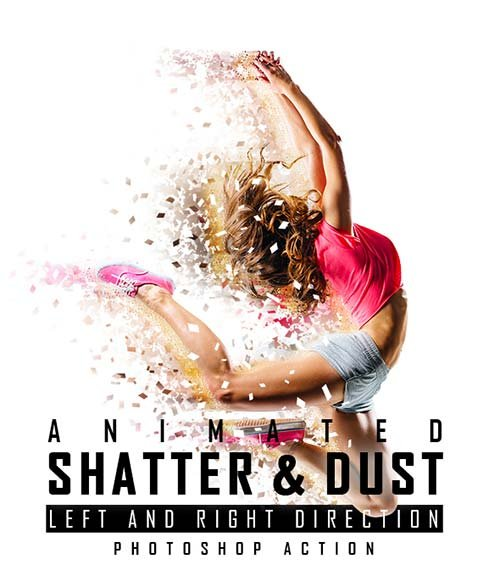 GraphicRiver Animated Shatter And Dust Photoshop Action