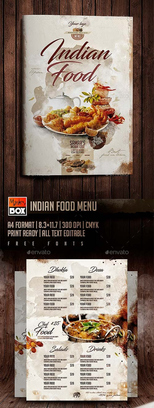 GraphicRiver Indian Food Menu