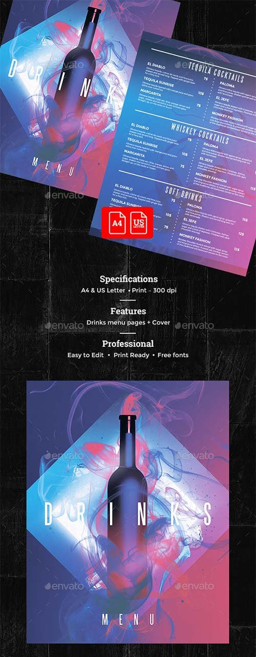 GraphicRiver Drinks Menu
