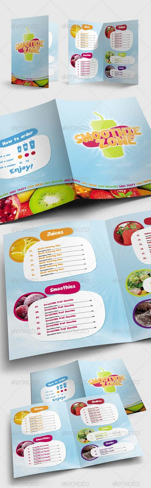 GraphicRiver Juice and Smoothie Menu - Smoothie Zone