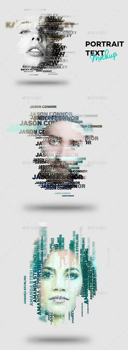GraphicRiver Text Portrait Effect