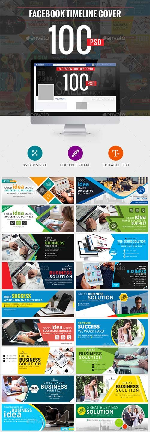 GraphicRiver 100 Facebook Timeline Cover Bundle