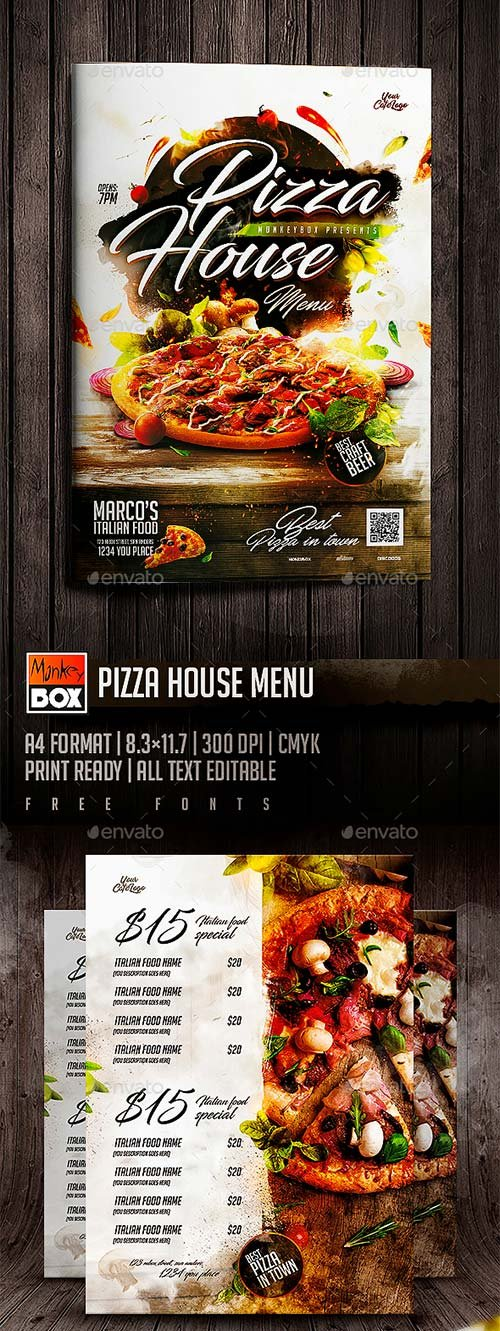 GraphicRiver Pizza House Menu
