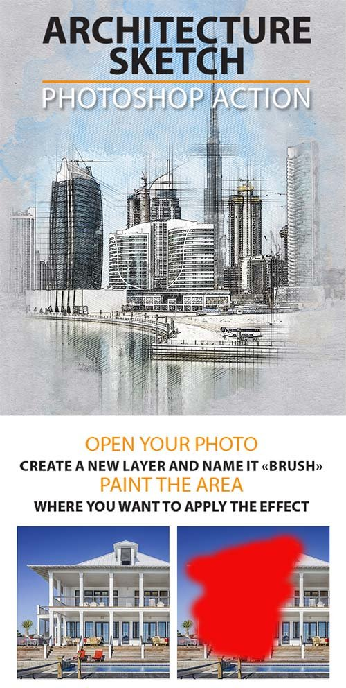 GraphicRiver Architecture Sketch Photoshop Action