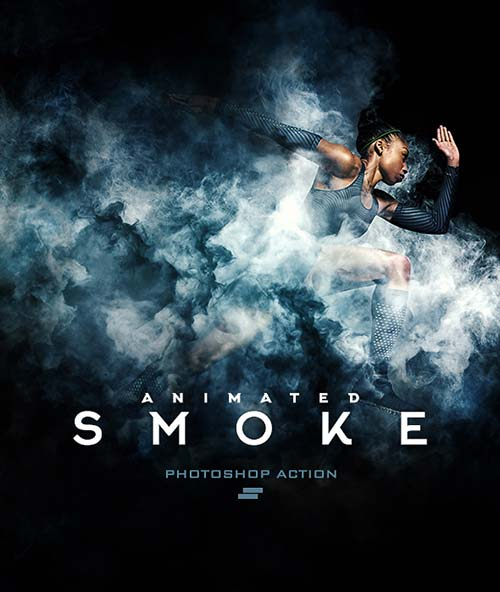 GraphicRiver Gif Animated Smoke Photoshop Action