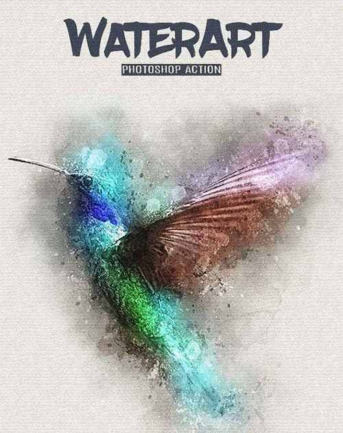 GraphicRiver WaterArt - Photoshop Action