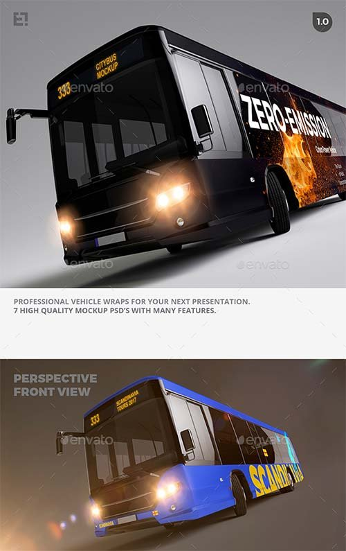 GraphicRiver Bus Mockup