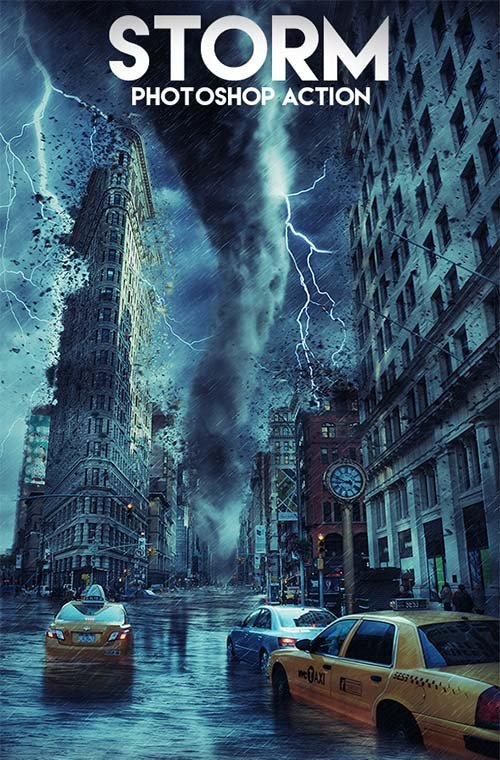 GraphicRiver Storm Photoshop Action 17838798