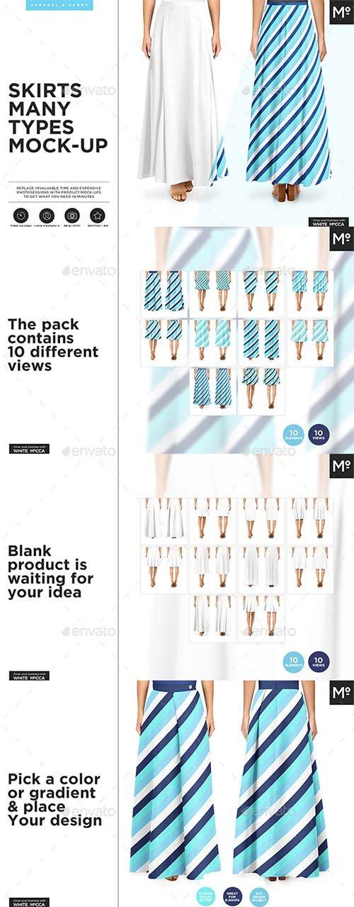 GraphicRiver 10x Women Skirts Mock-u