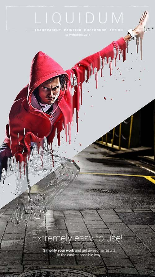 GraphicRiver Liquidum - Transparent Painting Photoshop Action