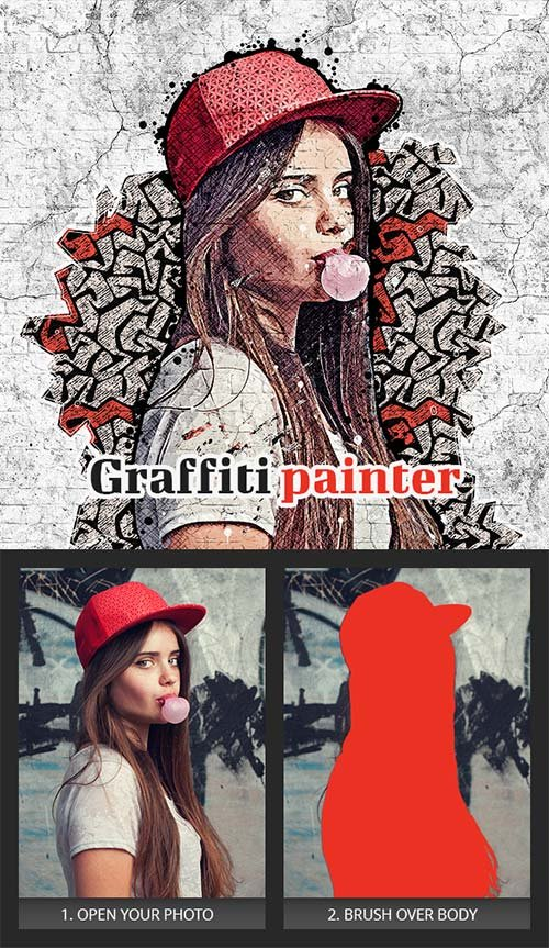 GraphicRiver Graffiti Painter Photoshop Action