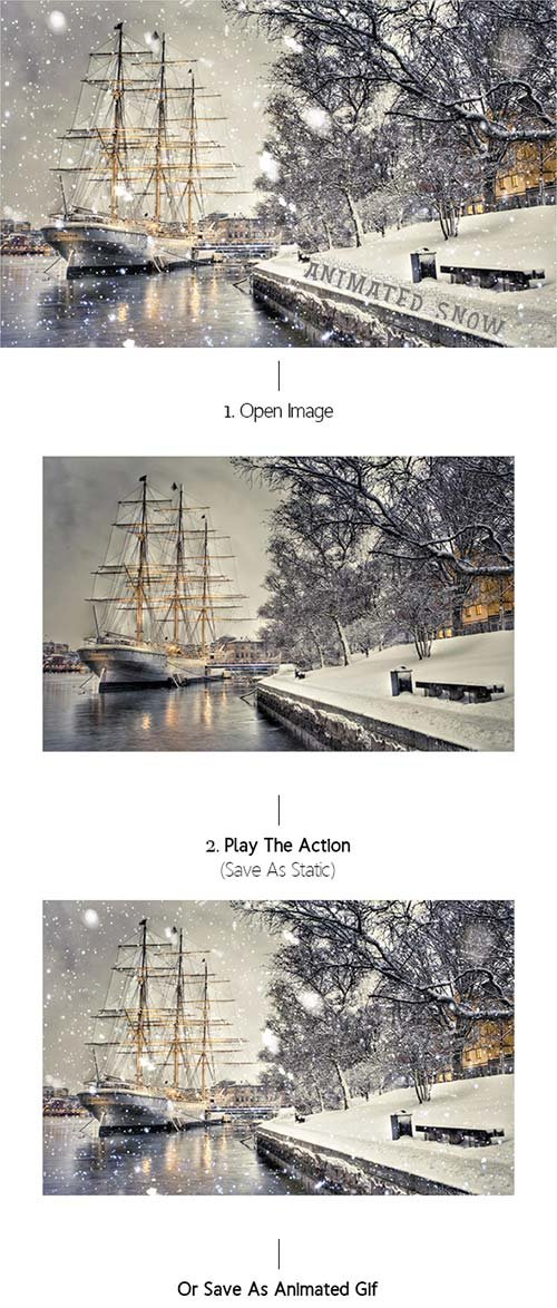GraphicRiver Gif Animated Snow Photoshop Action