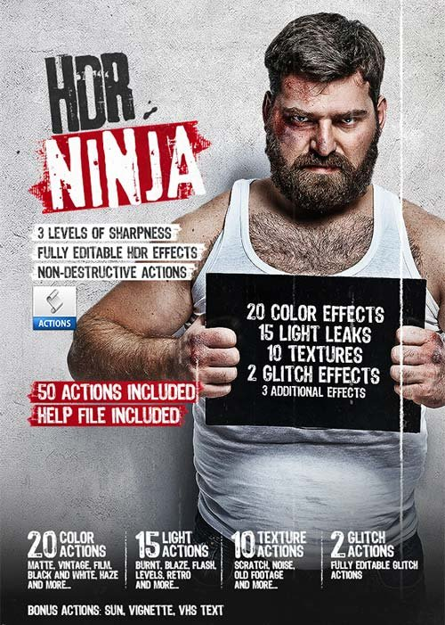 GraphicRiver HDR Ninja - 50 Photoshop Actions