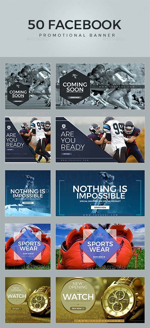 GraphicRiver 100 Sport Facebook Banners