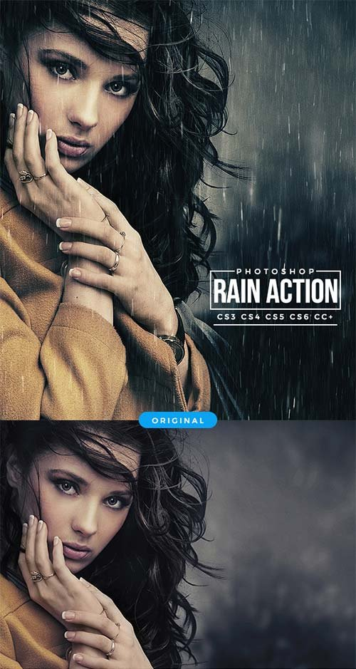 GraphicRiver Rain Photoshop Action 20660378