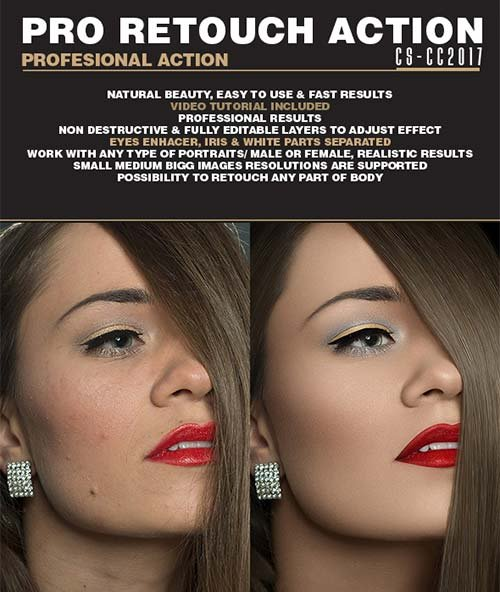 GraphicRiver Pro Retouch Action | Photo Effects