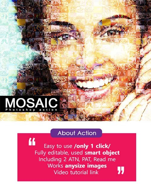 GraphicRiver Mosaic Photo PS Action