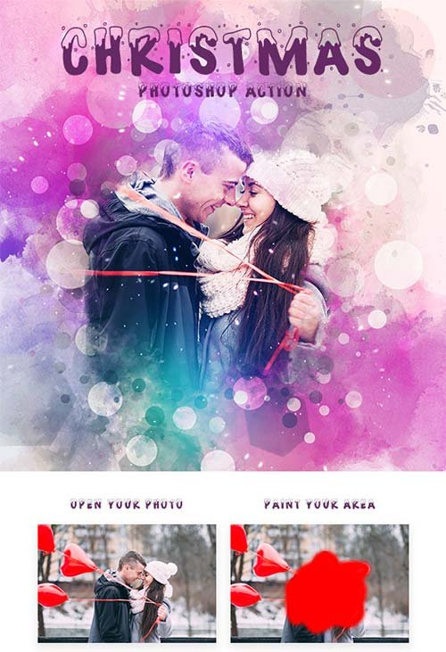 GraphicRiver Christmas Photoshop Action 20870780