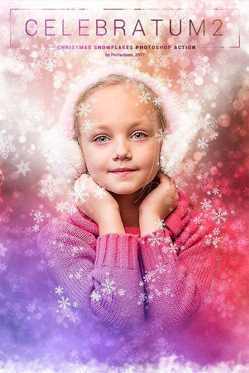 GraphicRiver Celebratum 2 - Christmas Snowflakes Photoshop Action
