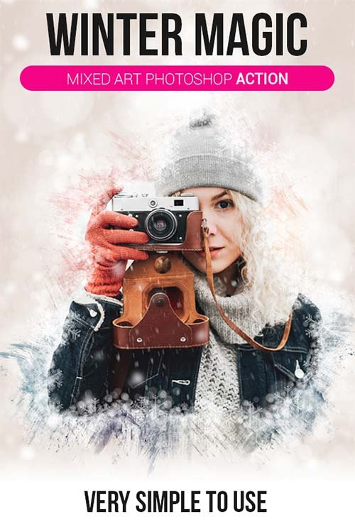 GraphicRiver Winter Magic | Mixed Art Photoshop Action