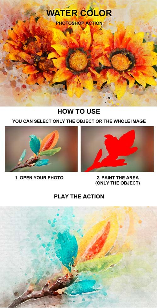GraphicRiver Water Color Photoshop Action 21335893