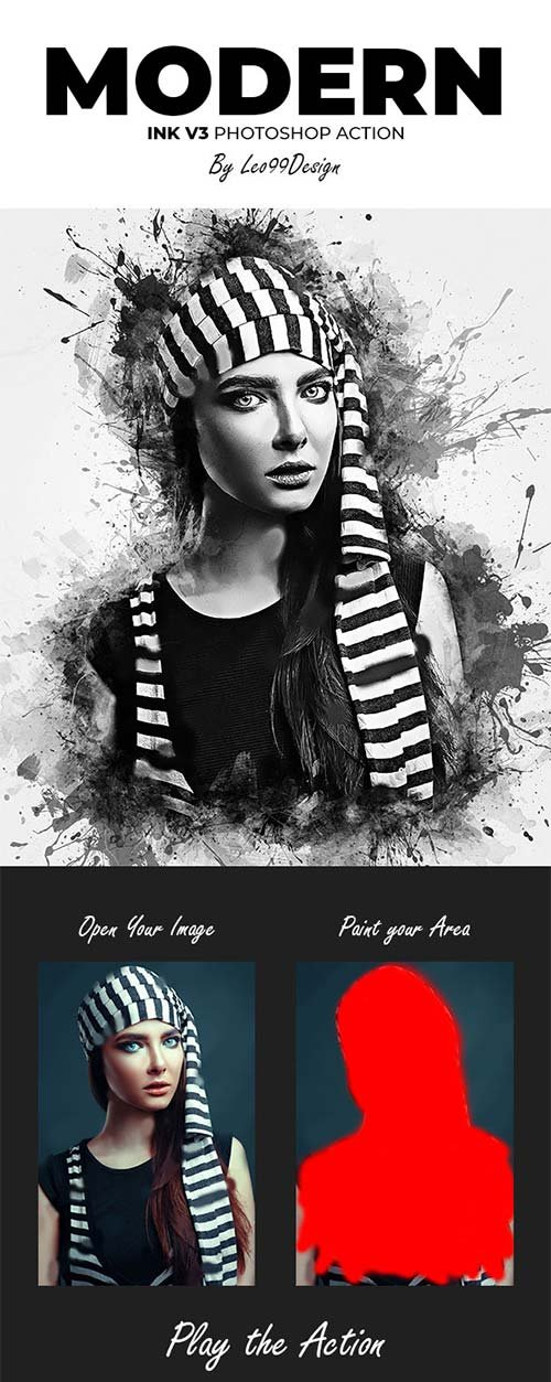 GraphicRiver Modern Ink V3 Photoshop Action