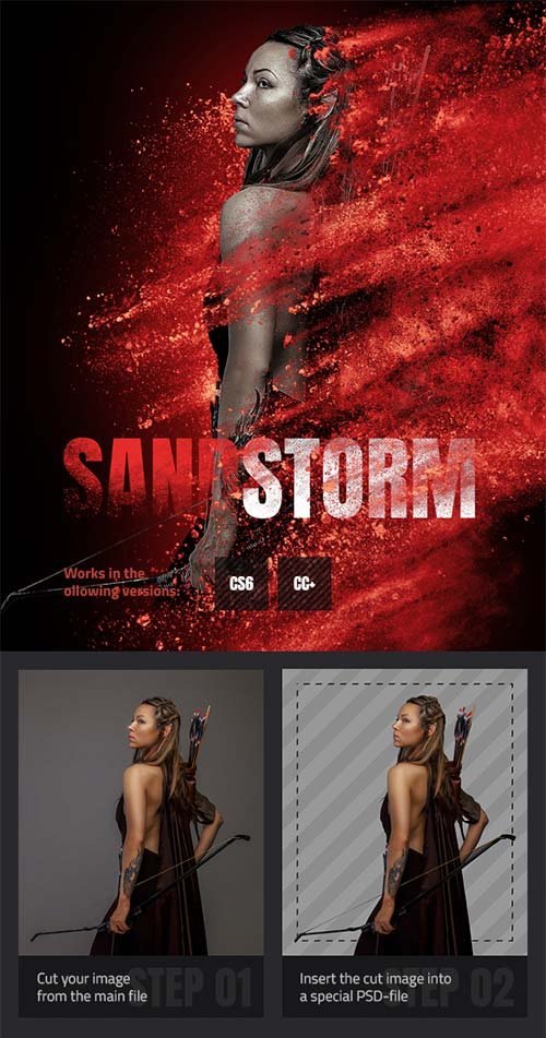 GraphicRiver Sandstorm Photoshop Action 21718057