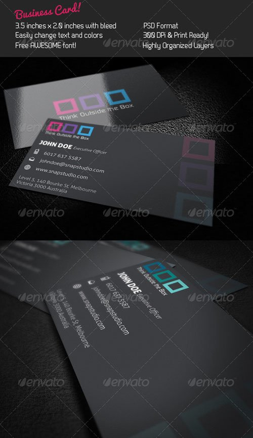 GraphicRiver Box Business Card