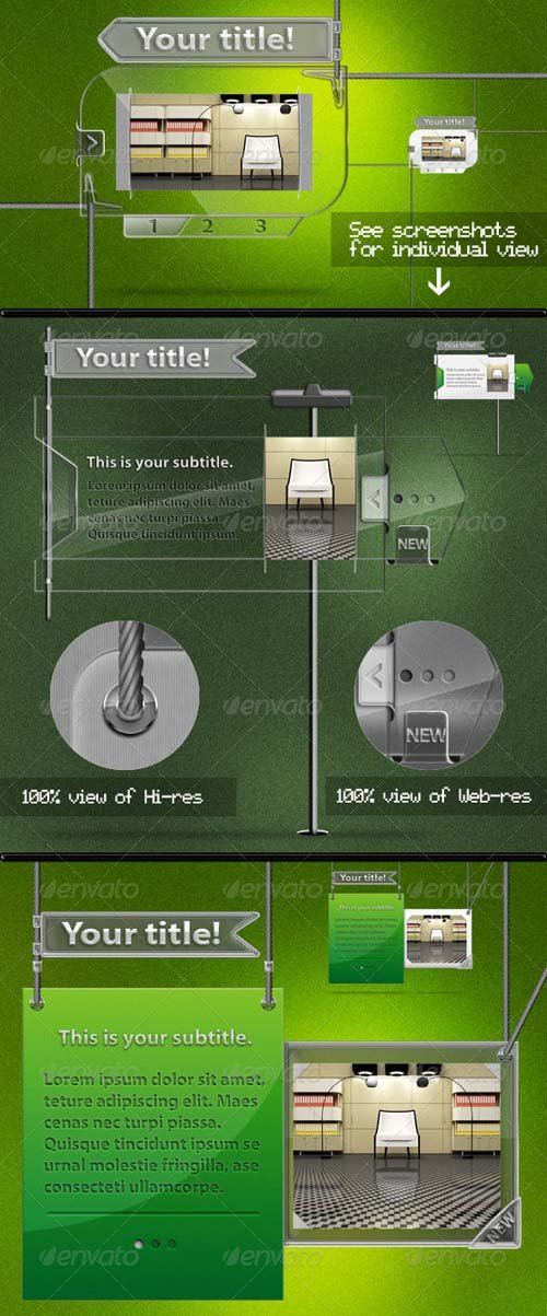 GraphicRiver Glass & Glossy Banners for Web and Prints