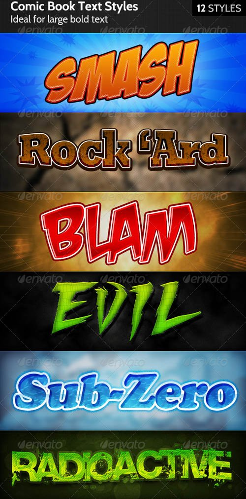 GraphicRiver Comic Book Text Styles