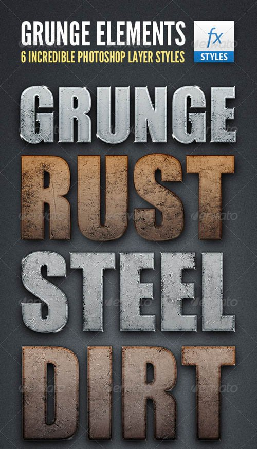 GraphicRiver Grunge Element Text Styles