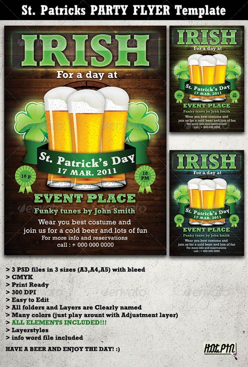 GraphicRiver St. Patricks Party Flyer & Poster Template