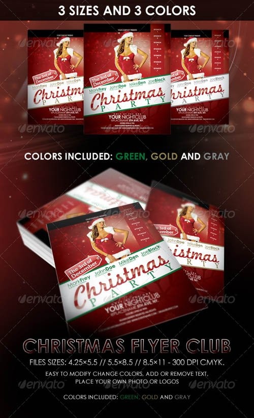 GraphicRiver Christmas Night Club Flyer