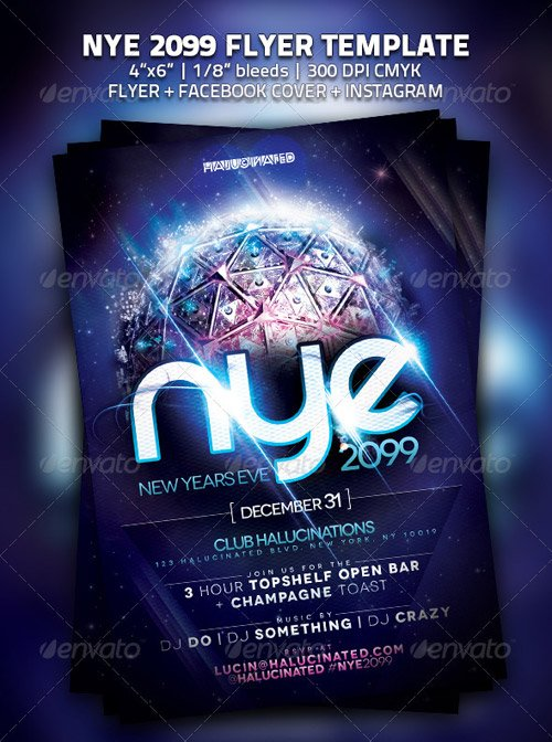 GraphicRiver NYE 2099 Party Flyer Template