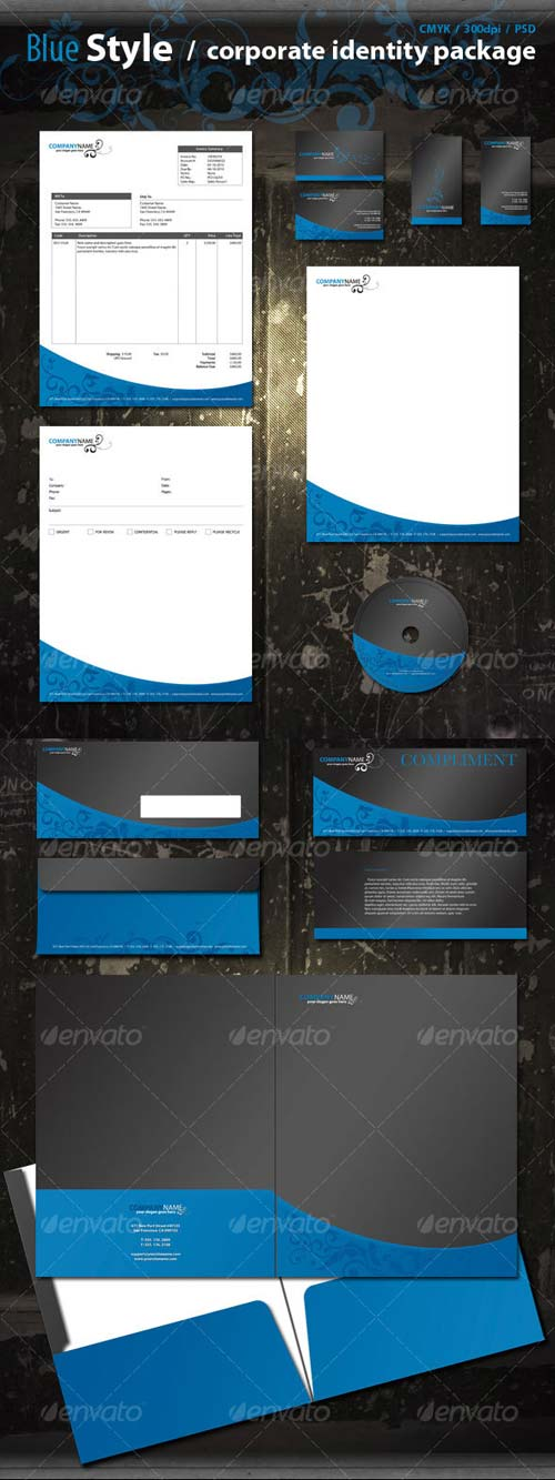 Graphicriver Blue Corporate Pack