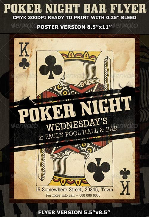 GraphicRiver Poker Night Flyer Template