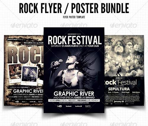 GraphicRiver Rock Flyer / Poster Bundle