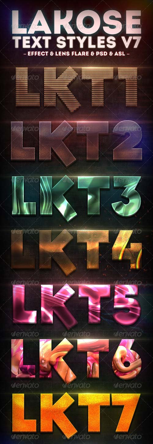 GraphicRiver Lakose Text Styles V7